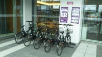 ニュース画像:旭川空港、シェアサイクルの実証実験 国際線側に自転車ポートを設置