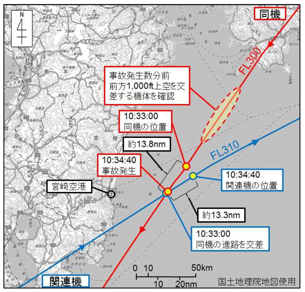 ニュース画像 1枚目:JA14VAとチャイナエアラインの経路