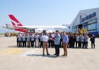ニュース画像:大韓航空、カンタス航空A380の再塗装を完了