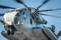 ニュース画像:沖縄県浦添市の浦西中学校にCH-53Eの部品落下 人的被害なし
