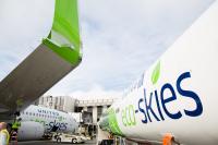 ニュース画像:ユナイテッド航空、歴史に残る最もエコフレンドリーなフライトを運航