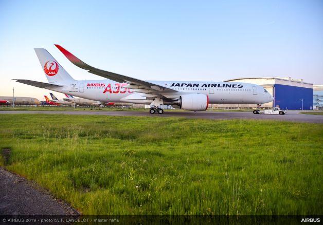 ニュース画像 1枚目:JAL塗装のA350-900