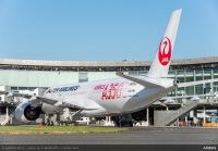ニュース画像:帝人、JALのA350XWB初号機に飛来を歓迎