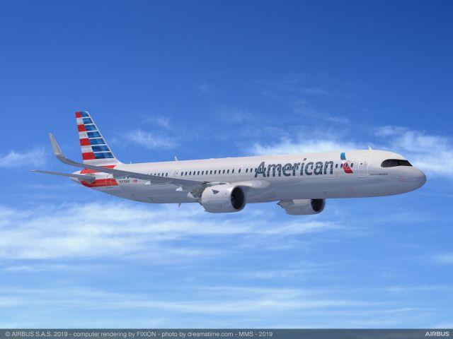 ニュース画像 1枚目:アメリカン航空のA321XLRイメージ