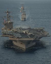 ニュース画像:カール・ビンソンCSG、第7艦隊AORを離脱 帰国の途へ