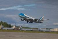 ニュース画像:エアフォース・ワンが夕方にも飛来へ 各国政府専用機も続々来阪