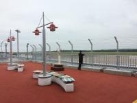 ニュース画像:釧路空港、送迎デッキにワイヤーフェンス設置 7月から通常開放