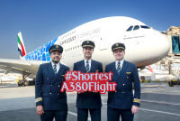 ニュース画像:エミレーツ航空、ドバイ/マスカット線にA380を投入 世界最短路線