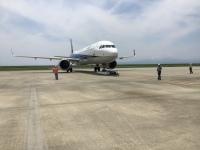 ニュース画像:ANA、佐賀空港で遠隔操作による機体牽引を開始