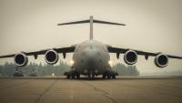 ニュース画像:カナダ空軍CC-177、小牧基地へ初飛来 表敬やギフト交換など