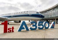 ニュース画像:エアバス、中国南方航空に初めてのA350-900を納入