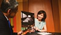 ニュース画像 1枚目:伊藤聡子キャスターと羽田未来総合研究所の大西社長