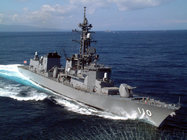 ニュース画像 1枚目:ホストシップを務める護衛艦「たかなみ」