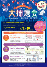 ニュース画像:関空、最大5万円分の利用券が当たる「サマー大抽選会」