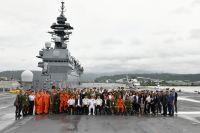 ニュース画像:水機陸機動団、「いずも」と共に帰国 インド太平洋方面派遣訓練が終了