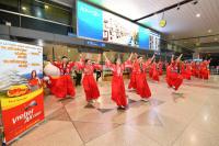ニュース画像 1枚目:成田で披露された就航イベント
