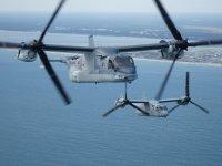 ニュース画像:陸自MV-22オスプレイ、アメリカ軍と初めて編隊飛行 教育訓練で