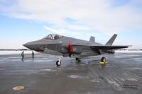 ニュース画像:空自、F-35A戦闘機を飛行再開