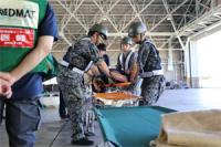 ニュース画像:航空自衛隊百里基地 7月23日の広域医療搬送訓練に参加