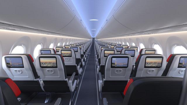 ニュース画像 1枚目:エア・カナダA220-300の機内