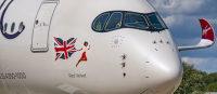 ニュース画像:英ヴァージン、初のA350-1000を受領 新アイコン塗装動画を公開