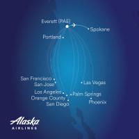 ニュース画像:アラスカ航空、11月にペインフィールド/スポケーン線をデイリーで開設