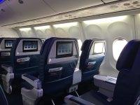 ニュース画像 1枚目:757-200の機内