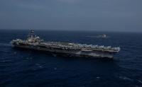 ニュース画像:ミサイル護衛艦「みょうこう」、ロナルド・レーガンと日米共同訓練を実施