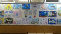 ニュース画像:帯広空港、「未来の空港絵画コンテスト2019」の応募作品を展示
