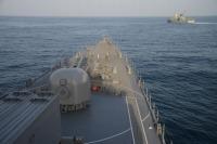 ニュース画像:護衛艦「あさぎり」、オマーン海軍と親善訓練