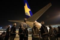 ニュース画像:スカイマーク、機内とオンラインでヴィッセルジェットピンバッジを販売