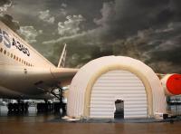 ニュース画像:エアバスが提案する移動式格納庫、A330、A340、A350、A380に対応