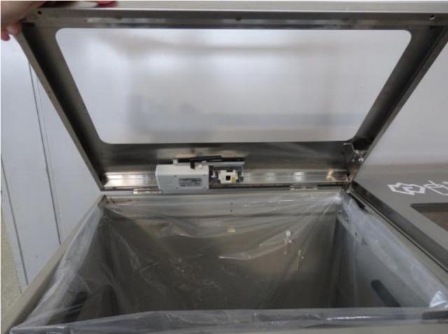 ニュース画像 1枚目:数カ所センサーを取り付けたゴミ箱
