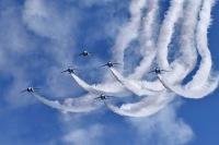 ニュース画像:ラグビーW杯開幕、ブルーが東京と釜石で展示飛行 週間イベント