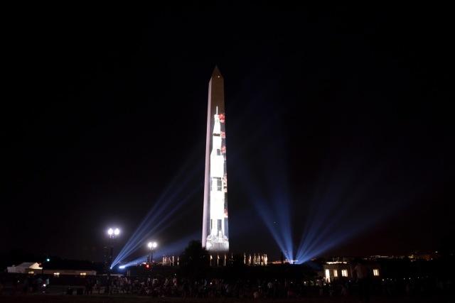 ニュース画像 1枚目:ワシントンD.C.で開催されたアポロ11打ち上げ50周年の記念イベント