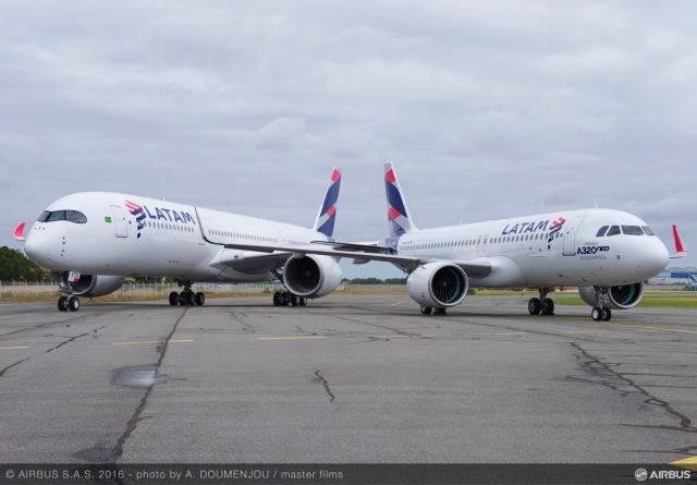 ニュース画像 1枚目:ラタム・エアラインズ A350とA320