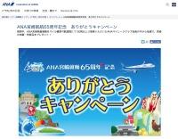 ニュース画像:ANA、宮崎就航65周年ありがとうキャンペーン 宿泊や名産品が当たる