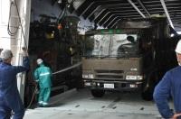 ニュース画像:輸送艦「しもきた」、小笠原の父島と硫黄島の基地に燃料や機材を輸送