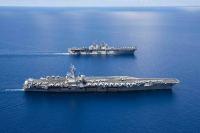 ニュース画像:ボクサーARGとロナルド・レーガンCSG、南シナ海で共同演習を実施