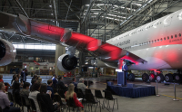 ニュース画像:カンタス航空、A380改装初号機をシドニーで初公開