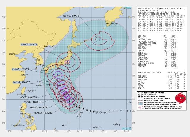 ニュース画像 1枚目:台風19号「ハギビス」