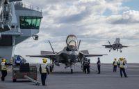 ニュース画像:イギリス空軍F-35B、空母「クイーン・エリザベス」に初着艦