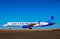 ニュース画像:ユナイテッド航空、カリフォルニアをイメージした新機体塗装を公開