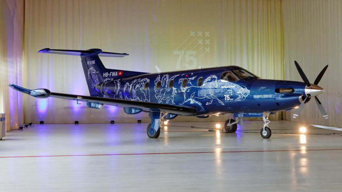 ニュース画像 1枚目:ピラタス 設立75周年記念の特別塗装機 PC-12NG