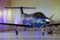ニュース画像 2枚目:ピラタス 設立75周年記念の特別塗装機 機首から