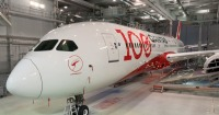 ニュース画像:カンタス航空、787に「100」ロゴ 100周年事業スタート
