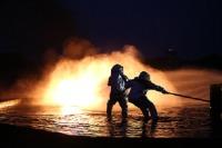 ニュース画像:新田原の第5航空団消防小隊、10月16日に航空機救難消火訓練を実施