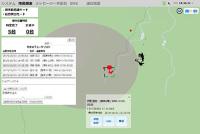 ニュース画像 3枚目:電波発射による在圏情報表示画面
