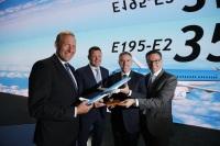 ニュース画像:エンブラエル、KLMシティホッパーとE195-E2の発注契約を締結