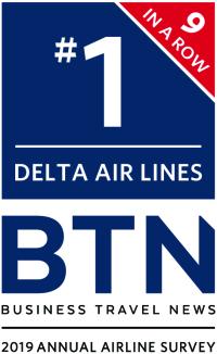 ニュース画像:デルタ、米ビジネストラベルニュース誌調査で10年連続トップ獲得